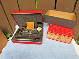 Starrett Dial Test Indicator Set 196a With Case And Attachments Unused