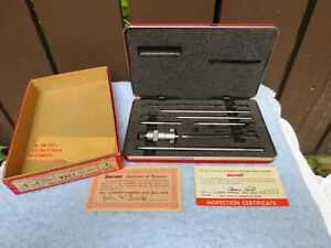 Starrett Id Inside Micrometer No 124a W Red Case Box Superb Condition
