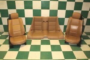 01 06 330i Vert Brown Hot Rod Leather Dual Power Buckets Seats Backseat Memory