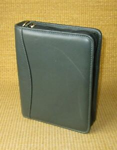 Compact 1 25 Rings Green Nappa Leather Franklin Covey Zip Planner binder