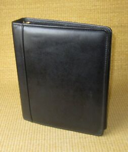 Classic 1 5 Gold Rings Black Leather Franklin Covey quest Open Planner binder