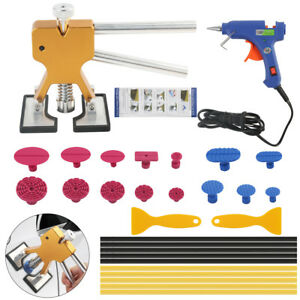 Paintless Dent Repair Removal Pdr Tools Car Body Kit Puller Lifter Glue Gun Set