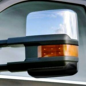For Chevy Silverado 1500 2014 2018 Saa Chrome Towing Mirror Covers