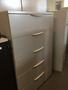 5dr 42 w Lateral File Cabinet By Haworth Office Furniture W Lock