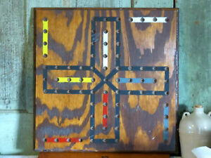 Primitive Old Paint Aggrivation Game Board Vintage Wood Wooden Painted