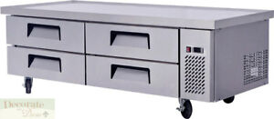 Chef Base Work Food Prep Table 76 Refrigerated 4 Drawer All Stainless Steel New