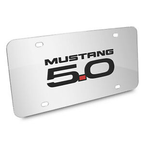 Ford Mustang Gt 5 0 3d Mirror Chrome Stainless Steel License Plate