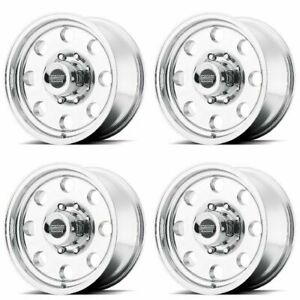 Set 4 16 American Racing Ar172 Baja Polished Wheels 16x8 5x5 0mm 5 Lug Truck