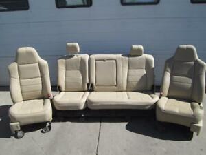 08 09 10 Ford F250 F350 Crew Cab Front Rear Seats Captain Leather Electric