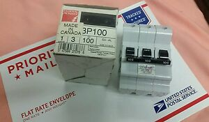Na3100 Pioneer Federal Pacific American Snap On 3 Pole 100 A Breaker