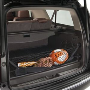 Black Cargo Storage Net With Zipper Pouch For Select Gmc And Chevy Suvs
