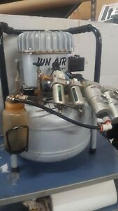 Jun air Compressor Model 6 25 6 6 Gal very Quiet Manuf 2004 Cracked Capacitor