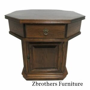 Ethan Allen Lamp End Table Night Stand Cabinet Royal Charter Oak Jacobean Rent
