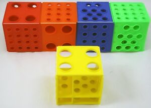 Plastic Cube Test Tube Rack Four Sizes Of Holes Set Of 5