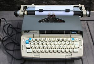 Vintage Smith Corona Electric 250 Mark Ii Typewriter With Case Works