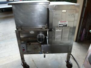 Hollymatic Model 180 Stainless Steel Commercial Meat Mixer Grinder 7 5hp Butcher
