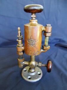 Antique Powell Brass Oiler Hit Miss Steam Engine 3