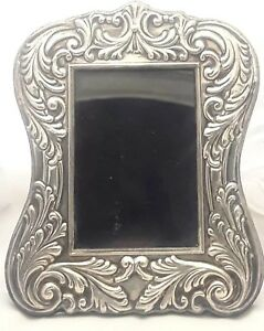 Mid Century Modern Mexico City Sterling Silver Photo Picture Frame