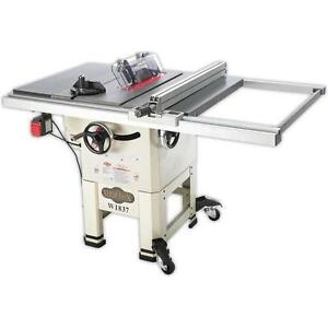Shop Fox W1837 10 2 Hp Open stand Hybrid Table Saw new In Box