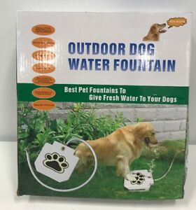 Triogato s Outdoor Dog Pet Water Sprinkler Easy Activated Dog Water Fountain Toy