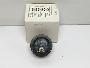 Vintage New Hickok 56r Analog Ammeter Amp Meter Metal Housing Black Face Version