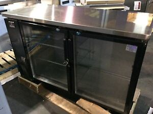 Kelvinator Kcbb60gb hc Back Bar Cooler Beer Refrigerator 2 Glass Swing Door