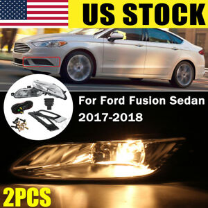 Us Pair Front Bumper Fog Light Driving Lamp For Ford Fusion Mondeo 2017 2018