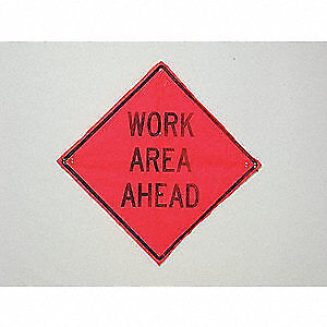 Usa sign Road Construction Sign 36 h 36 w mesh C 36 emo 3fh hd Work Area Ahead