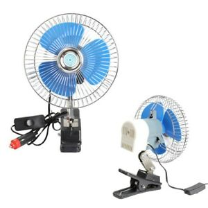12v Vehicle Oscillating Fan Portable Dashboard Cooling Fan For Boats Cars Trucks