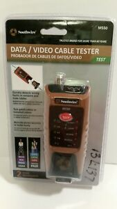 Southwire M550 Data video Cable Tester For Data And Coax Cables New