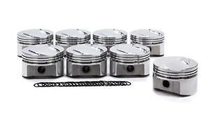 Srp Small Block Ford 4 030 In Bore Boss 302 Dome Forged Piston 8 Pc P N 289555