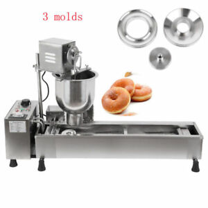 Automatic Commercial Donut Fryer Maker Making Machine 14 Cm Oil Tank 3 Mold Us