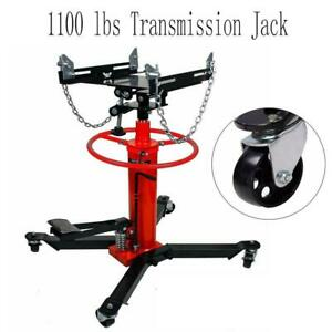 1100lbs 2 Stage Hydraulic Transmission Jack 360 swivel Wheels For Car Lift