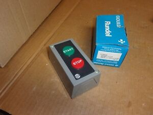 Gould Rundel Start Stop Switch In Enclosure H12k4s