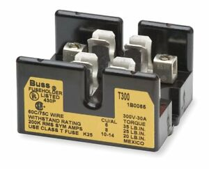 Cooper Bussmann T30100 2cr Fuse Block 100a 300v Lug Screw Mount