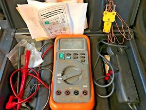 Blue Point Mt586 Digital Multimeter W Accessories Leads inductive Pickup case