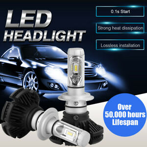 Cree H7 Led Headlight Conversion Kit Car Beam 1000w 150000lm 6000k White Bulbs
