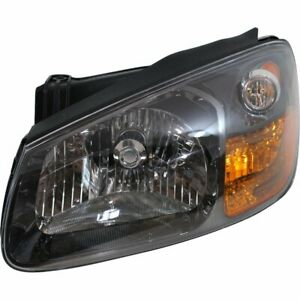 Headlight For 2007 2009 Kia Spectra5 Hatchback Left Halogen With Bulb