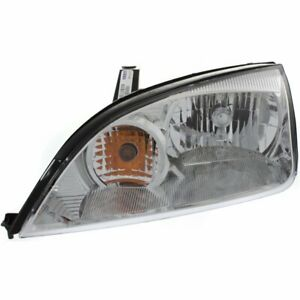 Headlight For 2005 2006 2007 Ford Focus Left Halogen With Bulb