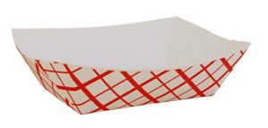 Southern Champion Tray 0413 100 Southland Red Check Paperboard Food Case 1000
