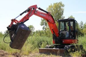 44 Hydraulic Ditching Grading Bucket For Kubota Mini Excavators
