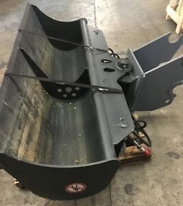 71 Hydraulic Ditching Grading Bucket For Kubota Kx080 Mini Excavators