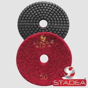 5 Pro Diamond Polishing Pad Granite Concrete 4 Pcs Set