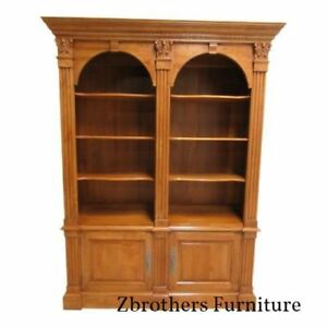 Ethan Allen Legacy Bookcase Shelf Display Cabinet Double Arch Hutch China