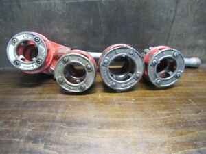 Ridgid 12 r Exposed Ratchet Threader With 4 1 1 2 2 Die Heads Pre owned