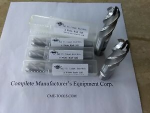 5pcs 5 8 M42 8 co Cobalt Ball End Mills 5 8x1 5 8x3 3 4 1009 co 58bl New