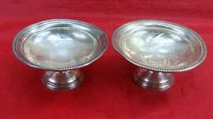 Vintage Lot 2 Revere 522 Sterling Silver Weighted Pedestal Nut Candy Dish Bowls