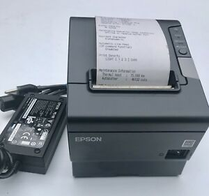 Epson Tm t88v M244a Usb Serial Thermal Receipt Printer With Ps 180 Power Supply