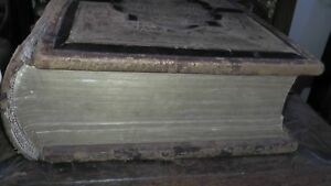 Big Antique Rare German Lutheran Bible Protestant Martin Luther Anderson Family