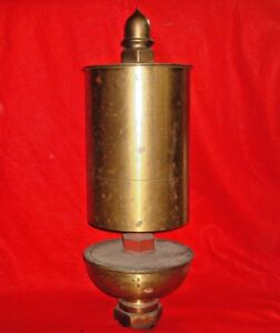 X large Antique Brass Single Chime Steam Whistle mill Factory Railroad